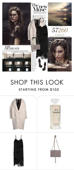 """""""We got that empire mind."""" by pommepadour ❤ liked on Polyvore featuring By Terry, Petar Petrov, La Perla, Chanel, DKNY, Yves Saint Laurent and Banana Republic"""