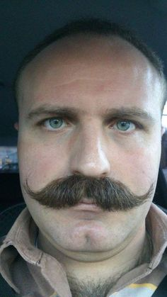 I wish I could grow a moustache like this one. Moustache, Handlebar Mustache, Mustache Styles, Beard No Mustache, Scruffy Men, Hairy Men, Bearded Men, Male Pattern Baldness, Great Beards