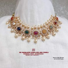 Gold Temple Jewellery, Gold Jewellery Design, Bridal Jewellery, Diamond Jewellery, Coral Jewelry, India Jewelry, Sterling Jewelry, Sea Pearls, Jewelry Patterns