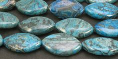 Smooth Flat Marquise Agate Dyed Blue