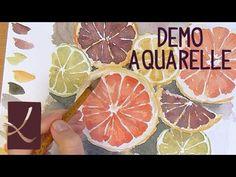 Vidéo démo : Aquarelle d'agrumes par l'Atelier de Louise - l'Atelier Géant