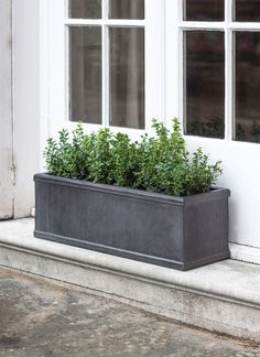 Fibre Clay Bathford Outdoor Planter Trough in Small or Large Plant Troughs, Trough Planters, Window Planters, Window Boxes, Window Sill, Planter Pots, Garden Troughs, Metal Planters, Bay Window