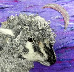 Enchanted Silver Moon  Sheep & Crescent Moon by WildernessFelt