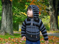 This children's crochet hoodie is so adorable!