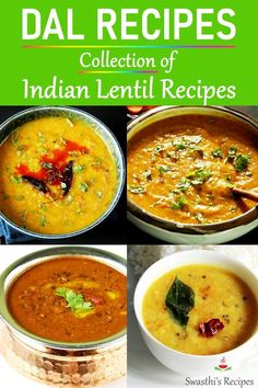 Dal Recipes - Collection of Indian lentil recipes. Try these protein-rich, nutritious & delicious Indian recipes for a m Lentil Recipes Indian, Indian Dal Recipe, Gujarati Recipes, Indian Food Recipes, Veg Recipes, Curry Recipes, Kitchen Recipes, Vegetarian Recipes, Cooking Recipes