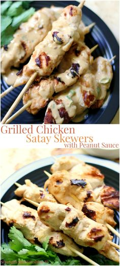 Grilled Curried Chicken Skewers With Spicy Peanut Sauce Recipe ...