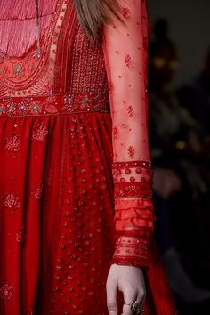 Valentino, Fall 2017 - Must-See Details From the Fall 2017 Paris Collections, red dress Red Fashion, Fashion Week, Fashion Details, Indian Fashion, Runway Fashion, Autumn Fashion, Fashion Dresses, Womens Fashion, Fashion Design