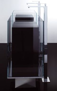 Kub By Victor Vasilev Steel Tap Sliced Marble Cube Anchored To - Almost invisible minimalist kub bathroom sink by victor vasilev
