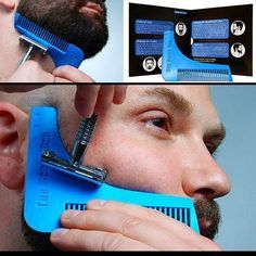 7 Tools in One- The Beard Bro Complete Beard Shaping Tool – Men's Hairstyles and Beard Models Men's Grooming, Bart Styles, Beard Game, Beard Tool, Beard Growth, Hair And Beard Styles, Facial Hair, Haircuts For Men, Bearded Men