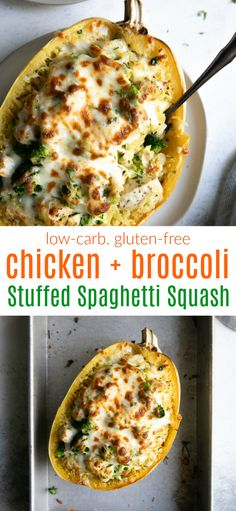 Chicken and Broccoli Stuffed Spaghetti Squash Skip the takeout and make this Healthy Orange Chicken Recipe for dinner! A simple, delicious dinner that is paleo, gluten free, packed with flavor and done in under an hour! Healthy Chicken Recipes, Low Carb Recipes, Diet Recipes, Vegan Recipes, Recipies, Potato Recipes, Healthy Cooking Recipes, Healthy Delicious Recipes, Healthy Recepies