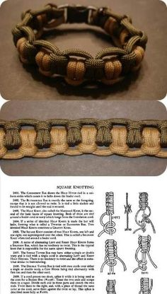 Double tatted bar: Fig. 2498.  Instructions from The Ashley Book of Knots.  #handmade #paracord #bracelet #knotting #macrame by christine.brooksmeier