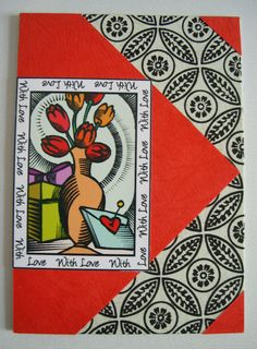 Handmade Greeting Card gift idea by TIRA STANFORD found on MyOwnCreation: This is a thank you card.Inside the message readsThank you so much for being you