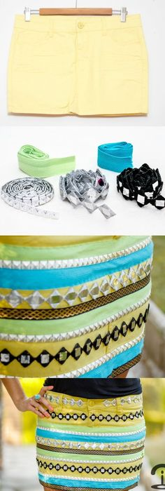 DIY Project to Try: DIY Skirt Tutorials for the Season - Pretty Designs Diy Clothes Hanger Rack, Diy Clothes Bag, Diy Clothes Videos, Diy Rock, Flapper, Diy Vetement, Glam Rock, Skirt Tutorial, Pretty Designs