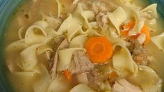 After the big T-day feast, this classic turkey soup makes fine use of a turkey carcass with added vegetables such as carrots, celery, onions, peas, white rice, and even leftover stuffing. Turkey Soup From Carcass, Leftover Turkey Soup, Turkey Noodle Soup, Turkey Leftovers, Leftovers Recipes, Turkey Recipes, Soup Recipes, Cooking Recipes, Appetizers