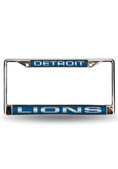 Detroit Lions Chrome License Frame