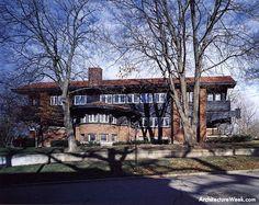 Harold C. Bradley House/ Mrs. Josephine Crane Bradley Residence. 1909, Madison, Wisconsin. Louis H. Sullivan.