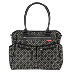 Skip Hop City Diaper Bag Tote with Changing Pad and Stroller Strap