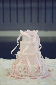 Beautiful Pale Pink Ballet Themed Cake Picture