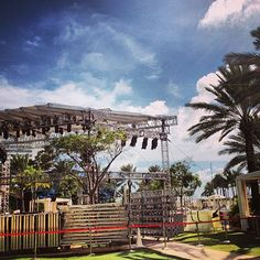 We're building the stage for the #iHeartRadio #UltimatePoolParty presented by @VISIT FLORIDA in #Miami this weekend @Fontainebleau  - Photo Credit: iHeartRadio Instagram