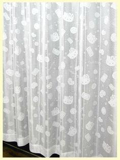 【新生活応援・子供部屋に最適】。サンリオ ジュエリーキティ ミラーレースカーテン100×108cm(2枚入り)【ハローキティ・Hello kitty・Sanrio・サンリオキャラクター】