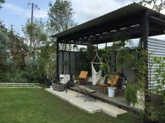 Tiny House Cabin, My House, Bahay Kubo, Rooftop Garden, Outdoor Living, Outdoor Decor, Outdoor Entertaining, Garden Furniture, Garden Landscaping
