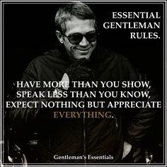 Essential Gentleman Rules www.gentlemans-essentials.com