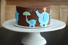 Baby Showers {Elephant Baby Shower Cake} | A Little Something Sweet - Custom Cakes