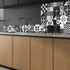 51 meilleures images du tableau credence cuisine 99deco en. Black Bedroom Furniture Sets. Home Design Ideas