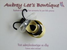 sculpted hair bow | Busy Bumble Bee Ribbon Art Sculpture Hair Bow No Slip Clip | eBay