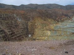 The Lavender Pit is a former open pit copper mine near Bisbee in Cochise County, Arizona, United States. via Flickr - kevystew