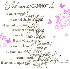 Cancer Sayings and Quotes | MyEyeQ: Pink supplies winner, a free download and a few thoughts   This makes me wonder if we should have guests take part in making goody bags for dr. Reddys office.  We should probably do something to help others.  Mom would like that.