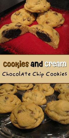 Cookies and Cream Chocolate Chip Cookies - Easy Culinary Concepts Perfect Image, Perfect Photo, Easy Chocolate Chip Cookies, Soften Cream Cheese, Cookies And Cream, Oreo, Recipe Ideas, A Food, Food Processor Recipes