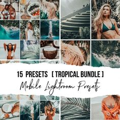 Buy 3 presets with discount! This Lightroom preset bundle saves you of the regular presets price. Make Photo, Photo Look, Instagram Photo Editing, Tropical Style, Unique Lighting, Photography Editing, Lightroom Presets, Stuff To Buy, Filters