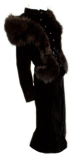 Exquisite, Glamourous, and Daring Velvet Vintage Suit at ballyhoovintage.com