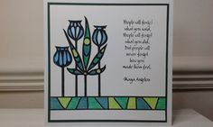 "Claritystamp ""funky foliage"" stamp, coloured with Spectrum Noir pencils.  By Deborah Wheeler"