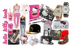 """hello kitty look"" by liloueclair ❤ liked on Polyvore featuring Hello Kitty and hellokitty"