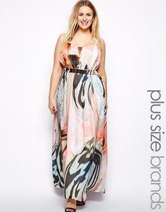 Imagen 1 de Vestido largo con estampado marmolado de Little Mistress