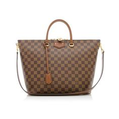 Rental Louis Vuitton Damier Ebene Belmont Tote (1.005 RON) ❤ liked on Polyvore featuring bags, handbags, tote bags, brown, canvas tote, brown purse, louis vuitton tote, canvas tote bag and zippered tote bag
