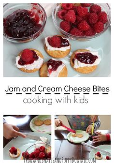 Jam and cream cheese bites cooking with kids