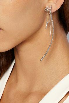 CristinaOrtiz|9-karat rose gold diamond earrings|NET-A-PORTER.COM