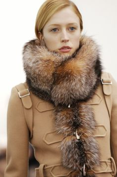 Balenciaga- camel and fur