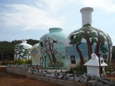 pot houses - korea- Don't know if eco friendly, but I love them