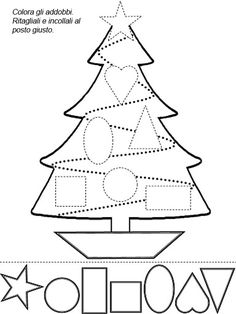 shapes christmas tree