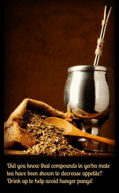 Need a little help in the weight loss department? Drink yerba mate. #weightloss