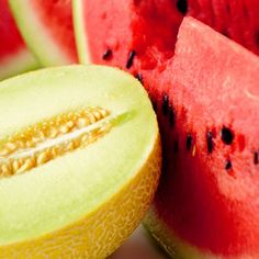 Watermelon, Cantaloupe, Mangoes These juicy melons are heavy in carotenoids, which help protect your skin from sunburn.