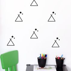 TEEPEE / TENT walldecal Scandinavian pattern by LoonyBinWorkshop
