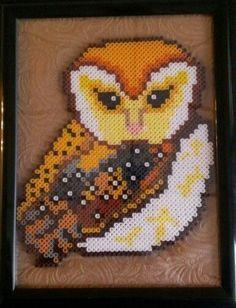 Owl perler beads framed by sanzosgal.deviantart.com on @DeviantArt