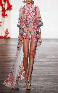 Embroidered Organza Romper by Naeem Khan for Preorder on Moda Operandi