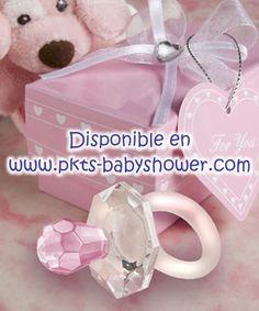 Recuerdos para Baby Shower - Chupón Rosa de Cristal Cortado - Disponible en www.pkts-babyshower.com