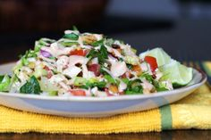 BBQ Chicken Chopped Salad with Roasted Corn and Pineapple